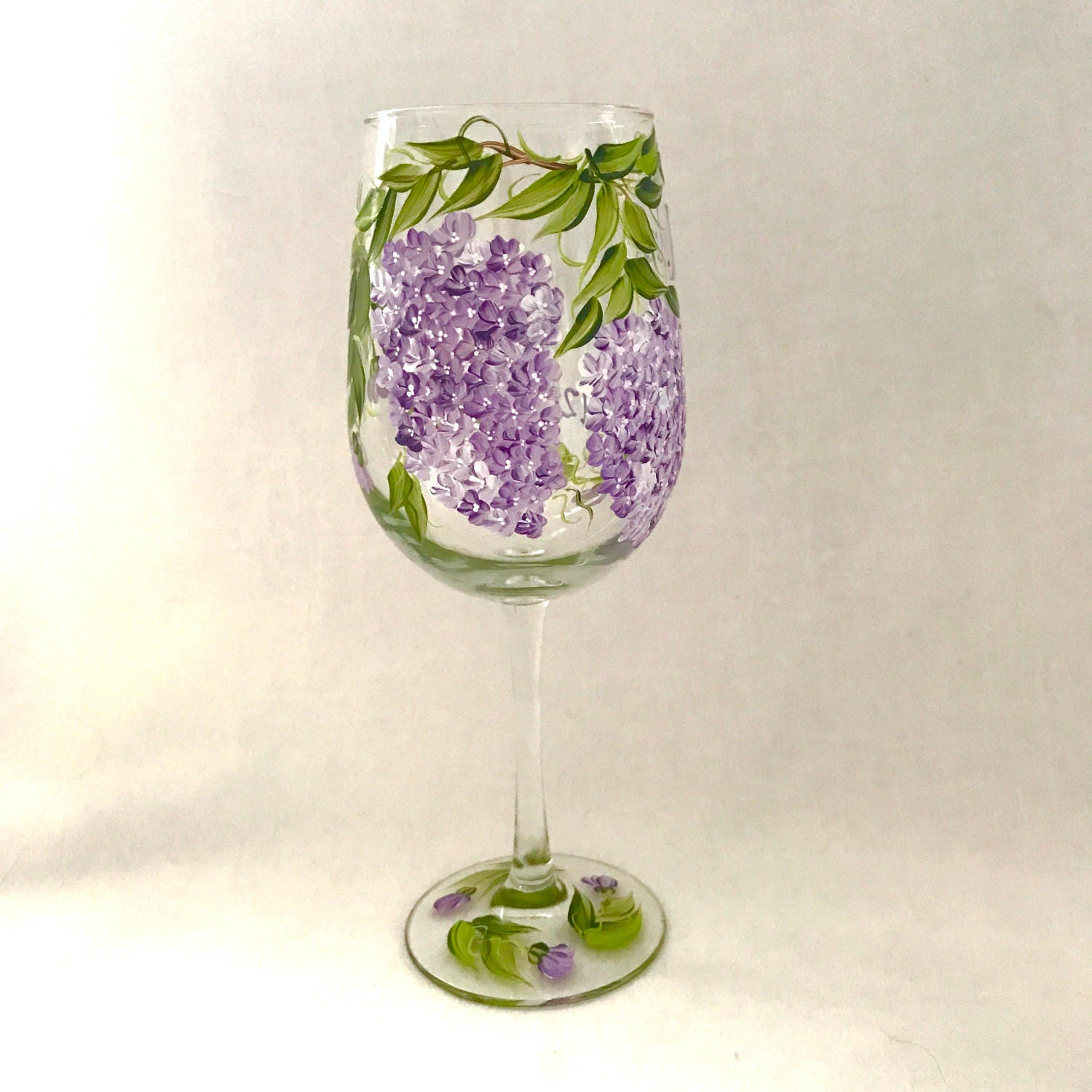 Free shipping lilac wine glass for personalized gift giving zoom floridaeventfo Gallery