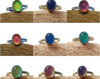Gold Mood Ring, Silver Mood Ring, Sterling Mood Ring, Mood Ring Sterling, Mood Stone Ring, Sterling Mood Ring, Vintage Mood Ring, Mood Ring