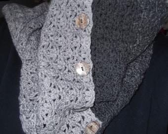 Crochet Lace Wrap/Cowl/Scarf