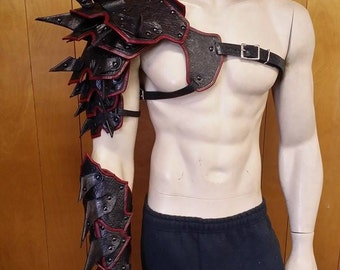 Leather Armor Spiked Barbarian Full Arm