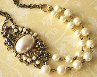 Statement Necklace Pearl Necklace Bridal Jewelry Wedding Jewelry Bridal Necklace