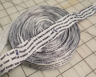 Wibbley Wobbley Timey Whimey Dr. Who Ribbon