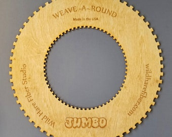JUMBO Circle Weaving Loom Weave-a-Round for wall hangings, tapestries, pillows, EASY