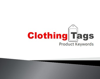 Clothing Tags Product Keywords SEO View Booster