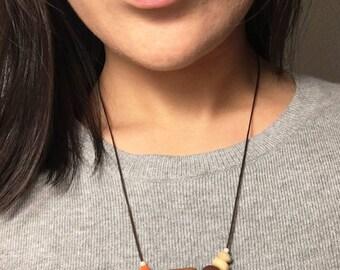 Geometric Necklace // Wood Panel
