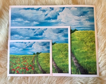 """Gorgeous Prints, """"Field of Red Poppies"""""""