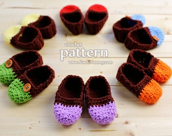 Crochet Pattern - The Easiest Crochet Baby Slippers - Age 0-3 Months (Pattern No. 065) - INSTANT DIGITAL DOWNLOAD