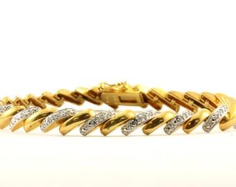 Vintage San Marco Design Chain Bracelet 925 Sterling BR 3162