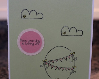 "Homemade Anytime Card: ""Hope Your Day is Looking Up"""