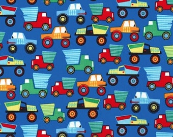 Miller truck Little Movers blue patchwork fabric