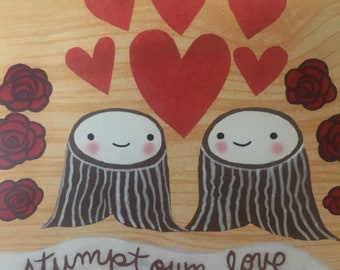 Stumptown Love postcard