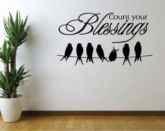 Vinyl Wall Decal - Count Your Blessings