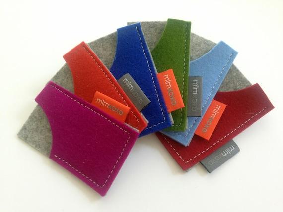 Mini moo card case by mlmxoxo pure wool felt business card like this item reheart Choice Image