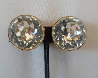 Stunning Designer ROBERT Hugh Statement RHINESTONE Earrings