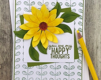 Happy Thoughts Flower Card