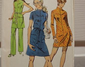 Jahrgang Muster, Einfachheit 8873 verfehlt Kleid Muster, Jahrgang Einfachheit, ungeschnitten Muster, Hose Muster, 1970 Muster, Größe 18-Muster