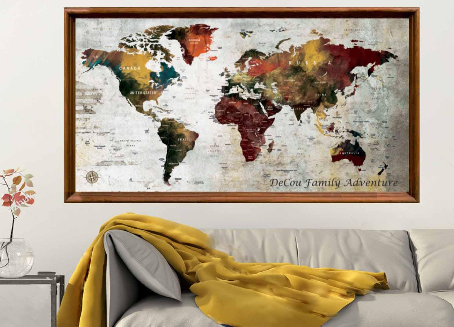 Large world map poster printworld map art posterpush pin map large world map poster printworld map art posterpush pin map posterworld map wall artworld map printworld map decalworld map art print gumiabroncs Image collections