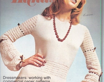 ON SALE Golden Hands Encyclopaedia of Knitting Dressmaking and Needlecraft Guide Part  34 1970s