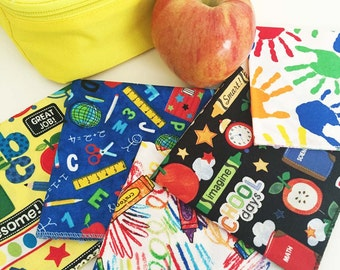 Kids' Cloth Napkins, Back to School Napkins, Napkins for Kids