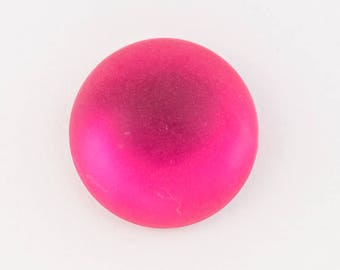 11mm Round Frosted Rose Cabochon (2 Pcs) #UP742