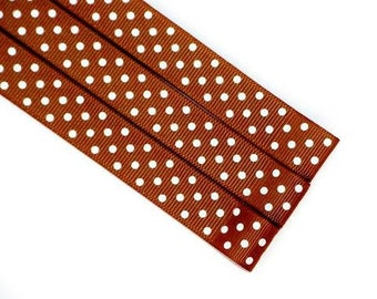 Pattern Magnet - Chart Keeper Magnetic Bookmark - Polka Dots (Brown)