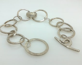 Handmade recycled silver chain link bracelet