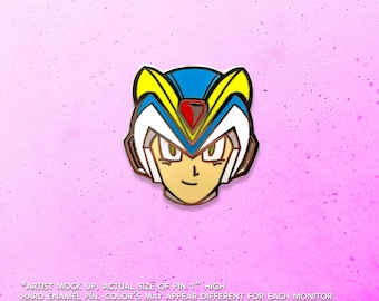 Mega Man X Armor / Video Game Art / Video Game Pin / Mega Man / Lapel Pin / Hat Pin by Tom Ryan's Studio