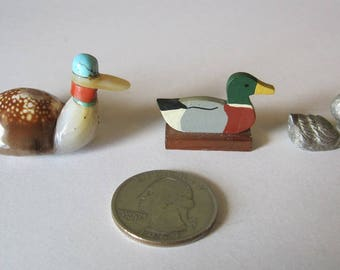 Miniature Ducks, Set of 3 Miniature Ducks