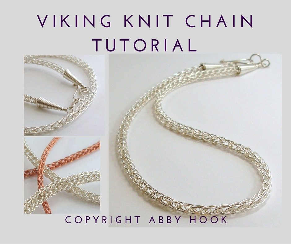 Viking knit Chain, Wire Jewelry Tutorial, PDF File instant ...