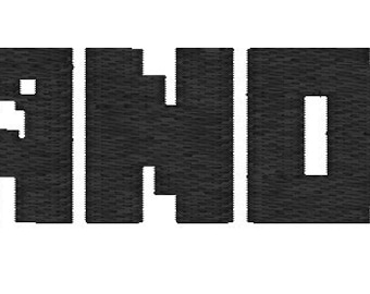 Gamer Inspired Font Name Embroidery File for use in 4x4, 5x7 or 11x7 size. Digital file! Embroidery or Applique Format