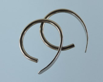 14 gauge niobium earrings: Apostrophe