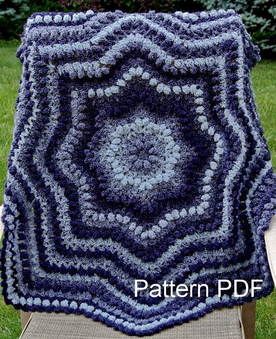 Crochet Pattern Baby Ripple Afghan. Download Pattern PDF.
