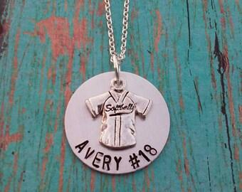 Personalized Softball Necklace - Softball Necklace - Necklace - Softball Girl - Softball - Gift for Softball Player -Softball Player Gift