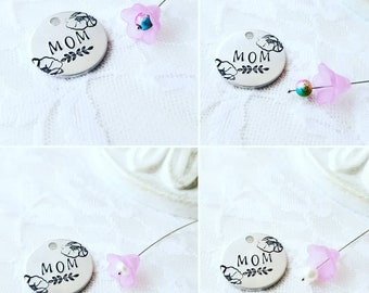 Mom Keychain, Gift For Mom, Mother's Day Gift, Poppy Flower Keychain, BFF Keychain, Love Keychain, Mom's Day Gift, Mama Keychain, Best Mom