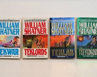 Set of 4 William Shatner Books: TekWar, TekLords, TekLab, Tek Vengeance
