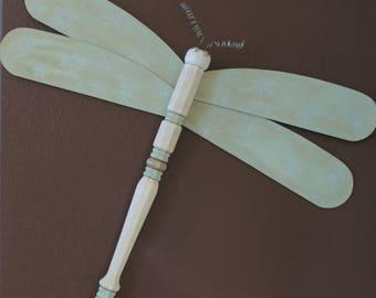 Wooden Table Leg Dragonflies - Indoor or Outdoor Decor - Garden - Dragonfly
