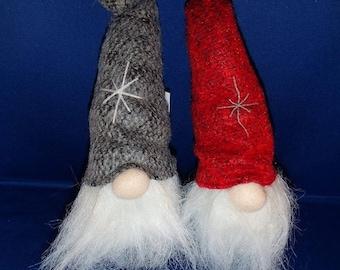 2 Scandinavian Swedish Danish Beanbag Gnomes Elf Nisse Tomte Santa #7009