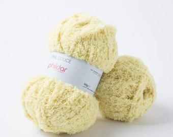 PHILDAR phil soft yellow pollen color yarn