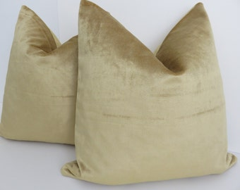 Velvet Pillow Cover -Cotton Velvet Pillow- Pillow Covers -Gold velvet Pillow Cover -Gold Pillow Cover - Gold Velvet Pillow