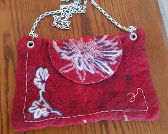 Felted fiber bag