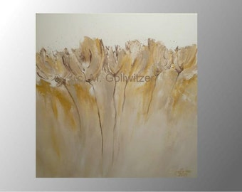 original painting tulips modern art painting acrylic painting canvas on strecher ready to hang