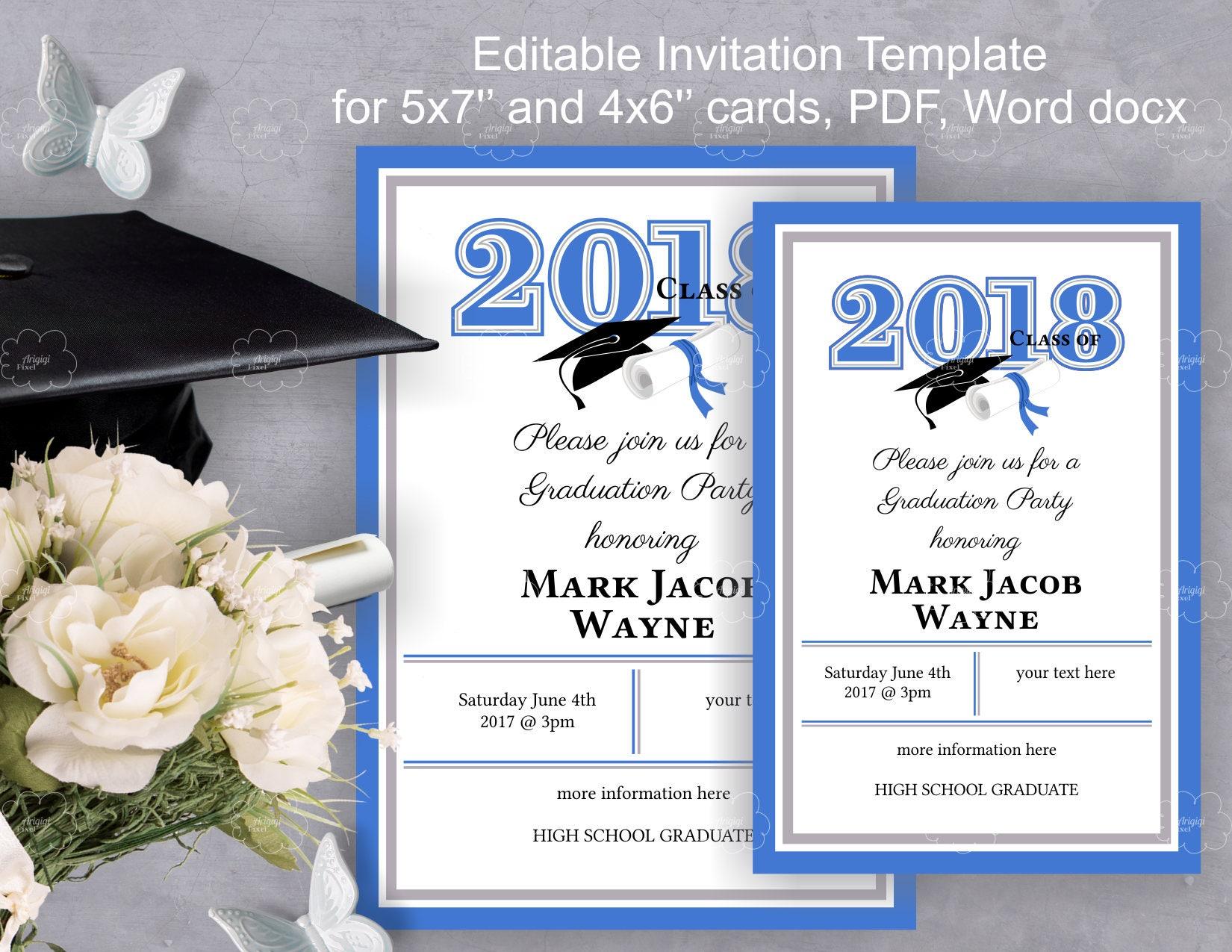 Grade Party Invitation Template DIY invitation edit yourself