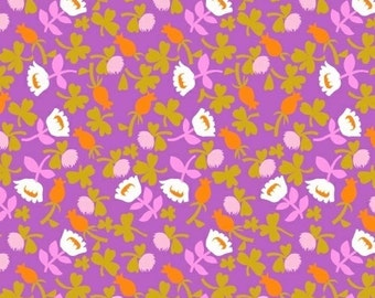 Heather Ross Briar Rose Fabric, Floral Fabric by the Yard, Calico in lilac, Windham Fabrics, Quilting Cotton, Modern Quilt Fabric