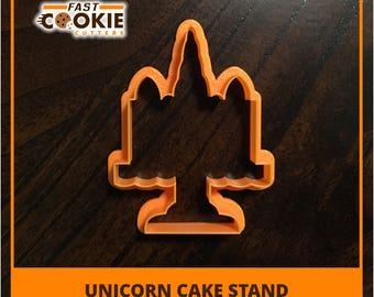 Unicorn Cake Stand Cookie Cutter