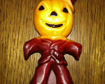 Vintage Gurley Jack-o-lantern Scarecrow Candle for Halloween
