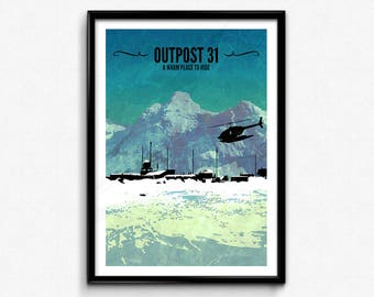The Thing Travel Poster/Print - Outpost 31 Poster/Print - The Thing John Carpenter, Kurt Russell, Horror Print, Scifi Print, CtrlAltGeek