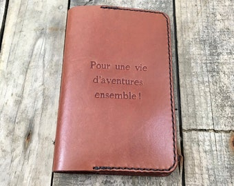 Personalised Leather Notebook Cover, Traveler's Notebook Holder, Personalised Leather Diary Case, Personalised Leather Journal Cover