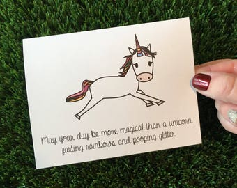 Funny Unicorn Card for Friend Funny Friendship Card Funny Thinking of You Card Funny Pick Me Up Card Sarcastic Card Friend Just Because Card