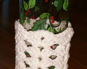 Glass Cozy in Cotton Off White set of 4