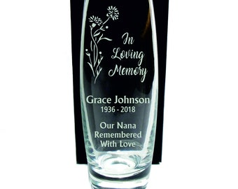 Memorial Vase, Personalised Engraved